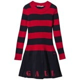 Junior Gaultier Red and Navy Stripe Jersey Dress