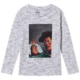 Little Eleven Paris Light Grey Melange Buzz and Woody Print Tee