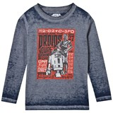 Little Eleven Paris Blue R2D2 and C3-P0 Print Tee