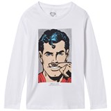 Little Eleven Paris Superman Moustache Print Tee