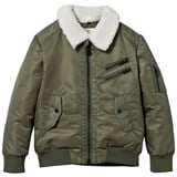 Little Eleven Paris Olive Aviator Jacket