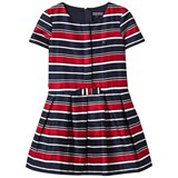 Tommy Hilfiger Navy, Red and White Stripe Bow Dress