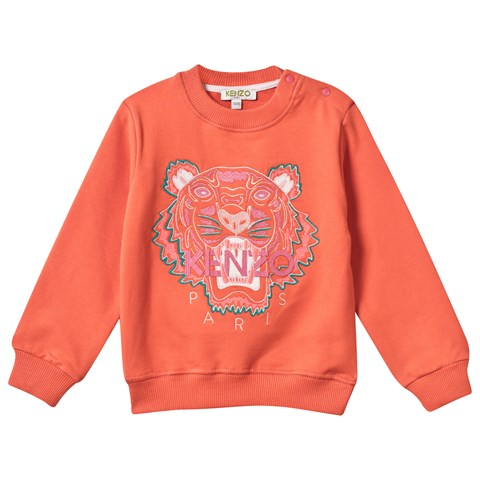 Coral Embroidered Tiger Sweatshirt