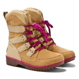 Sorel Beige and Pink Meadow Lace Boots