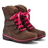 Sorel Brown and Pink Meadow Lace Boots