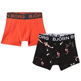 Bjorn Borg Pack of 2 Orange and Fish Print Trunks