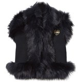 Bandits Girl Navy Faux Fur Gilet
