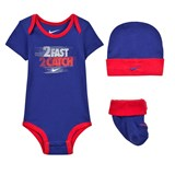 Nike Navy 2 Fast 2 Catch Body, Hat and Booties Gift Set
