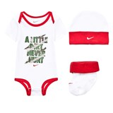 Nike A Little Dirt Never Hurt Body, Hat and Booties Gift Set