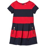 Junior Gaultier Red and Navy Milano Dress