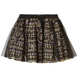 Relish Multi Sequin Skirt with Tulle Overlay
