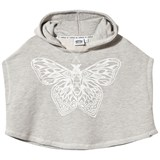 Animal Grey Flutter Butterfly Cape Hoodie