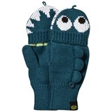 Animal Teal Monster Mittens