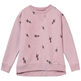 Little Eleven Paris Pale Pink Glitter Lightning Bolt Sweatshirt