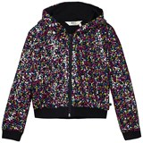 Little Eleven Paris Multicolour Sequin Hoodie