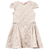 Oh...My! Rose Gold Floral Jacquard Bow Dress