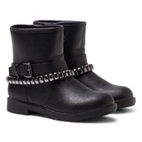 Lelli Kelly Nancy Black Leather Studded Ankle Boots