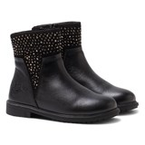 Lelli Kelly Joyce Black Leather Shimmer Zip Ankle Boots