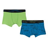 Calvin Klein Pack of 2 Green and Blue Printed Trunks