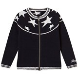 Bogner Navy Zipped Cardigan with White Stars
