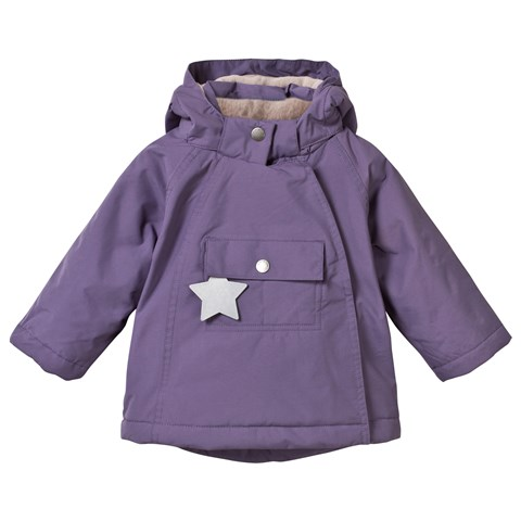 Purple Wang Anorak with Pointed Hood