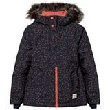 O'Neill Navy Radiant Ski Jacket with Faux Fur Hood
