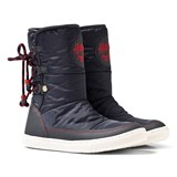 Tommy Hilfiger Navy and Red Branded Snow Boots