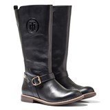 Tommy Hilfiger Aubrey Tall Black Leather Boots
