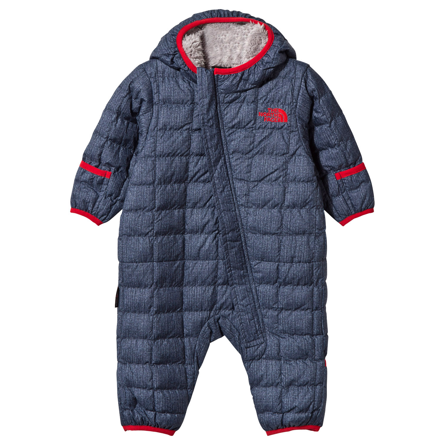 840e53ecfea8 The North Face Denim Print Infant ThermoBall Snowsuit