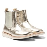 Young Soles Gold Leather Francis Chelsea Boots
