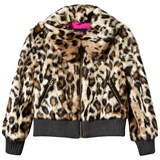 Juicy Couture Faux Leopard Print Bomber Jacket