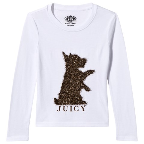 White and Gold Lurex Scotty Dog Tee