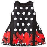 Fun & Fun Butterfly and Houndstoooth Print Polka Dot Dress