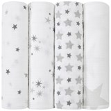 Aden + Anais Pack of 4 Star Print Swaddles