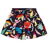 Simonetta Navy Cartoon Print Skirt