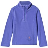 Poivre Blanc Purple Embroidered 1/2 Zip Polar Fleece Jacket