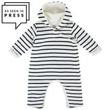 Petit Bateau Striped Hooded All In One