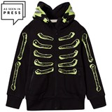 Stella McCartney Kids Black Skeleton Bandit Hoodie