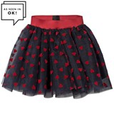 Love made Love Dark Blue Tutu Tulle Skirt with Velvet Hearts