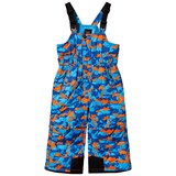 Poivre Blanc Blue and Orange Camo Ski Bib Salopettes