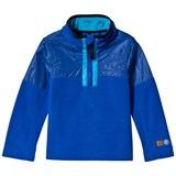 Poivre Blanc Blue Embroidered 1/2 Zip Polar Fleece Jacket