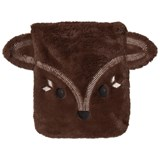 Poivre Blanc Brown Faux Fur Fox Face Bag