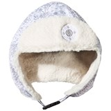 Poivre Blanc Cloud Silver Faux Fur Lined Infants Hat