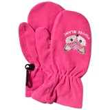 Poivre Blanc Pink Infants Fox Embroidered Ski Mittens