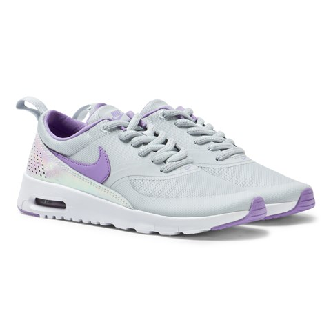 Platinum and Purple Air Max Thea Trainers