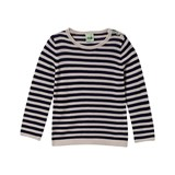 FUB Navy Striped Sweater with Buttons
