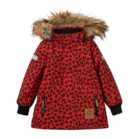 Mini Rodini Siberia Leopard Jacket Red