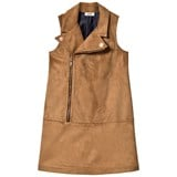 Junior Gaultier Beige Faux Suede Biker Dress