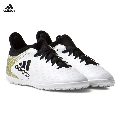 White and Gold X 16.3 Turf Football Boots