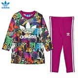 adidas Originals Multicolour Animal Dress and Leggings Set